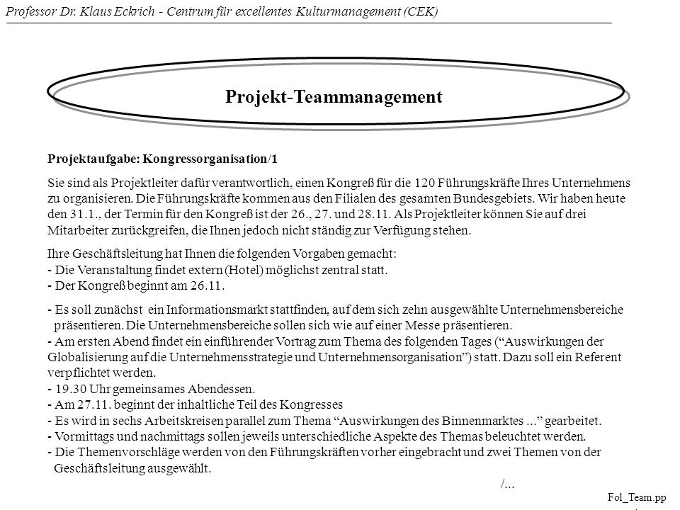 Projekt-Teammanagement