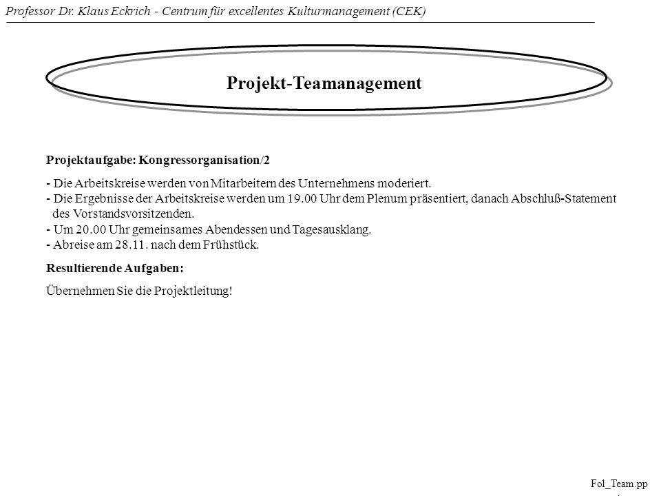 Projekt-Teamanagement