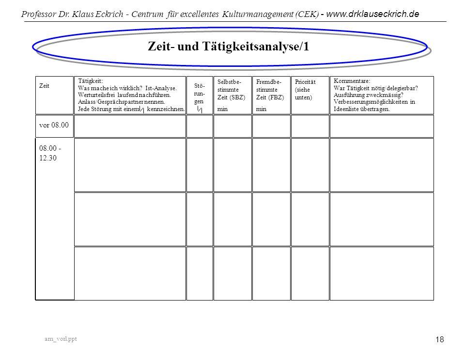 Zeit- und Tätigkeitsanalyse/1
