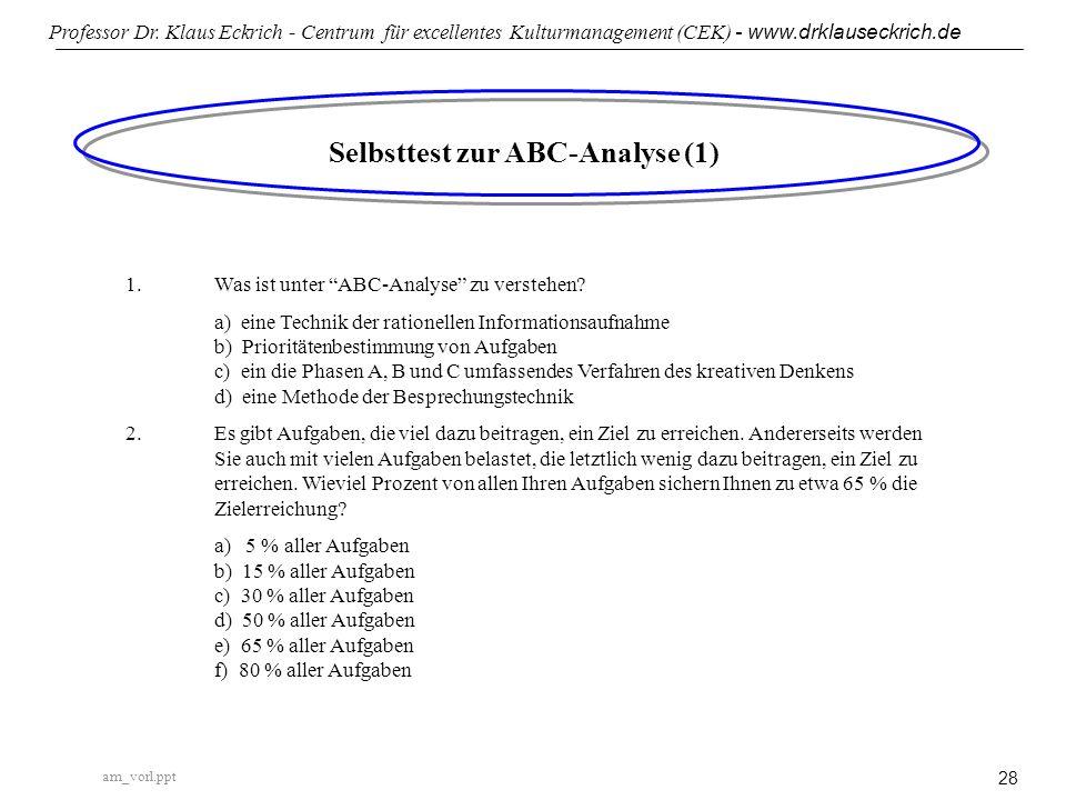 Selbsttest zur ABC-Analyse (1)