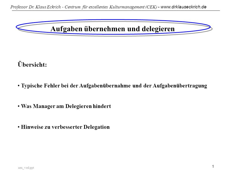 Aufgaben übernehmen und delegieren