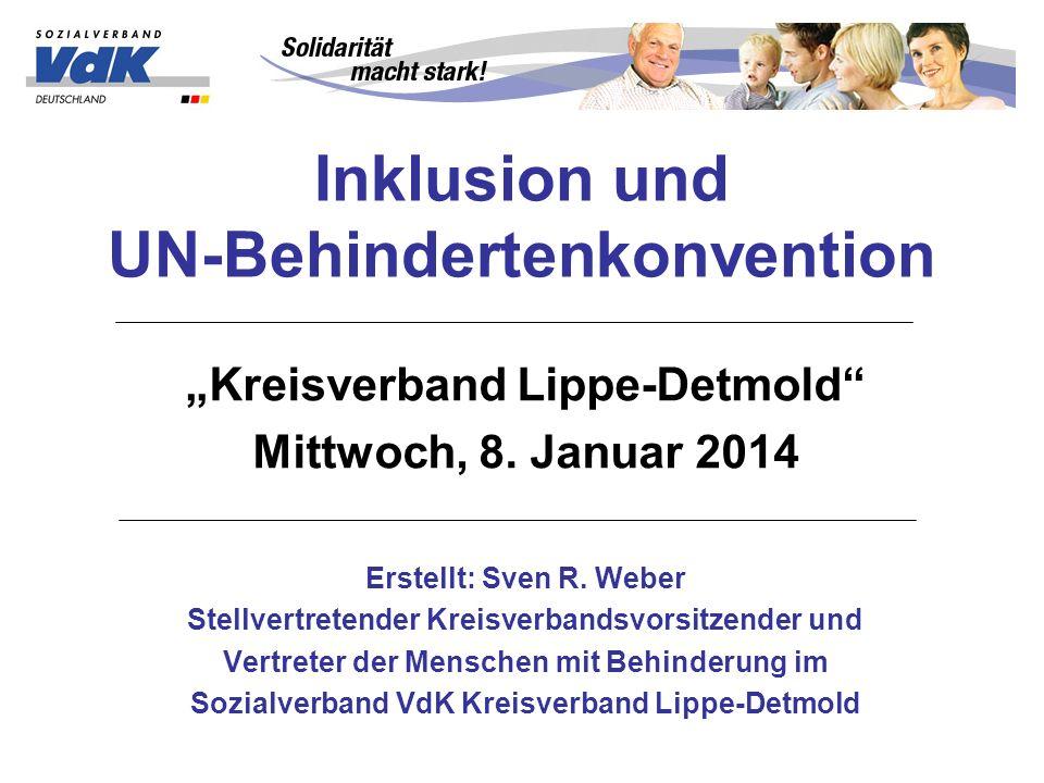 Inklusion und UN-Behindertenkonvention
