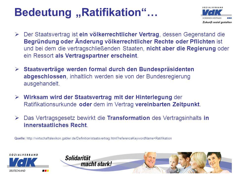 "Bedeutung ""Ratifikation …"