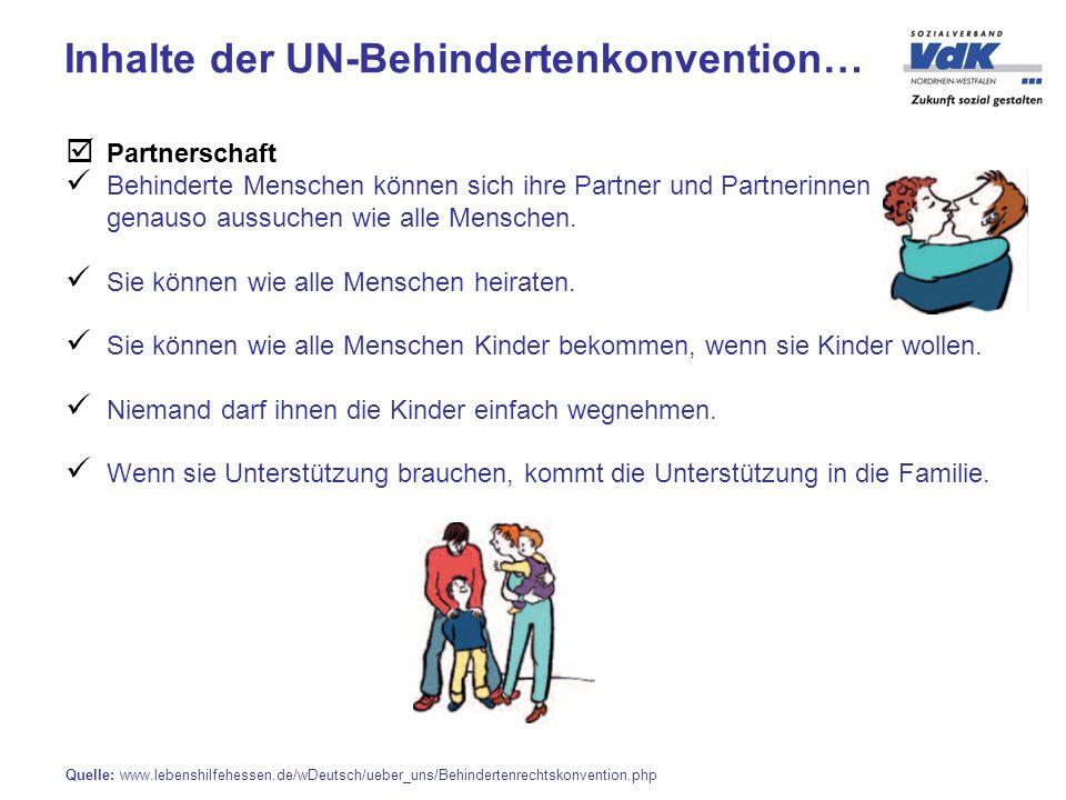 Inhalte der UN-Behindertenkonvention…