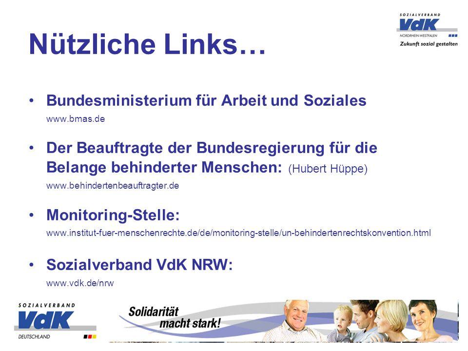Nützliche Links… Bundesministerium für Arbeit und Soziales