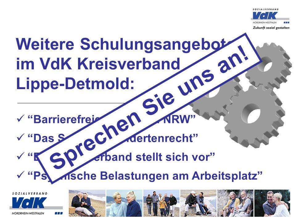 Weitere Schulungsangebote im VdK Kreisverband Lippe-Detmold: