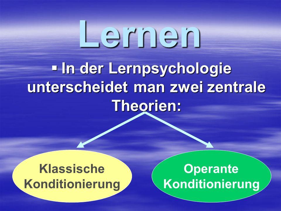 In der Lernpsychologie unterscheidet man zwei zentrale Theorien: