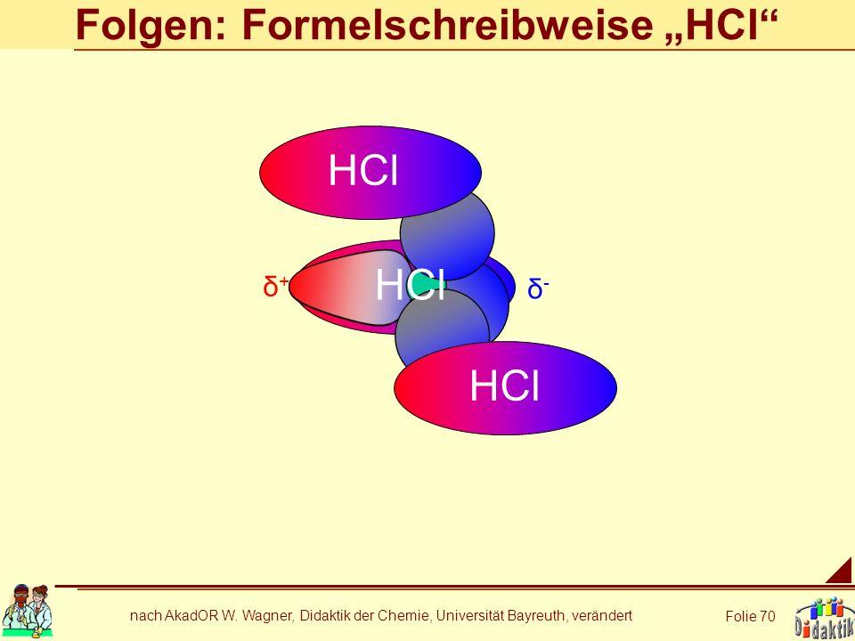 "Folgen: Formelschreibweise ""HCl"