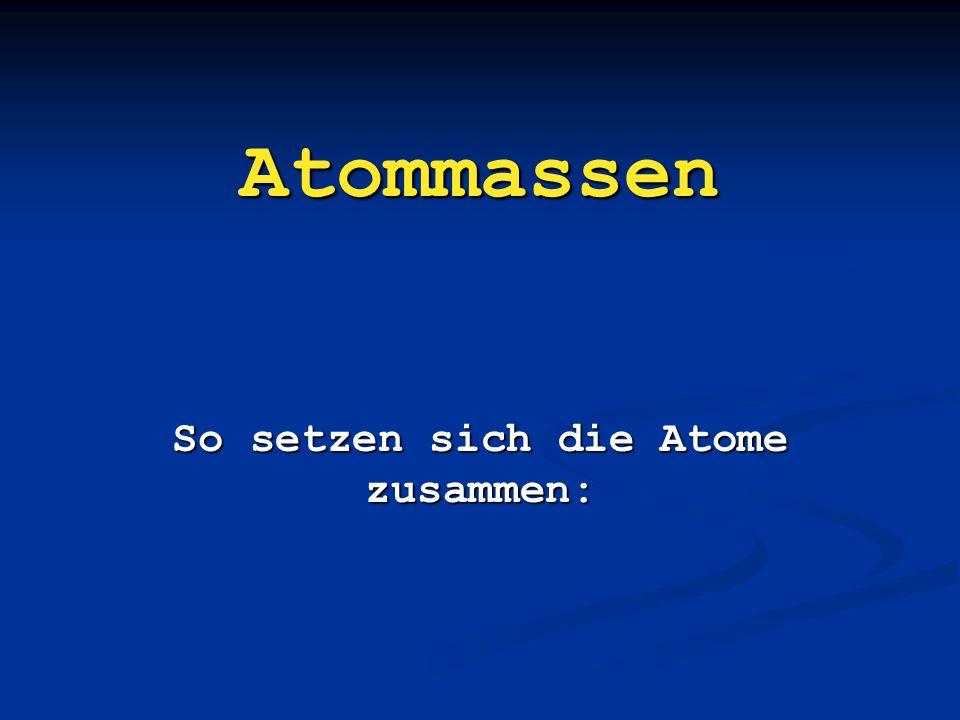 So setzen sich die Atome zusammen: