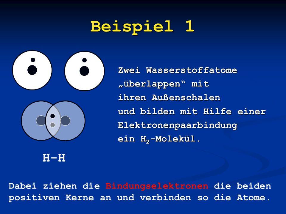 """Beispiel 1 H-H Zwei Wasserstoffatome """"überlappen mit"""