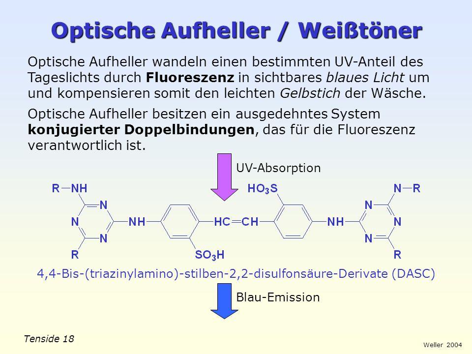 Optische Aufheller / Weißtöner