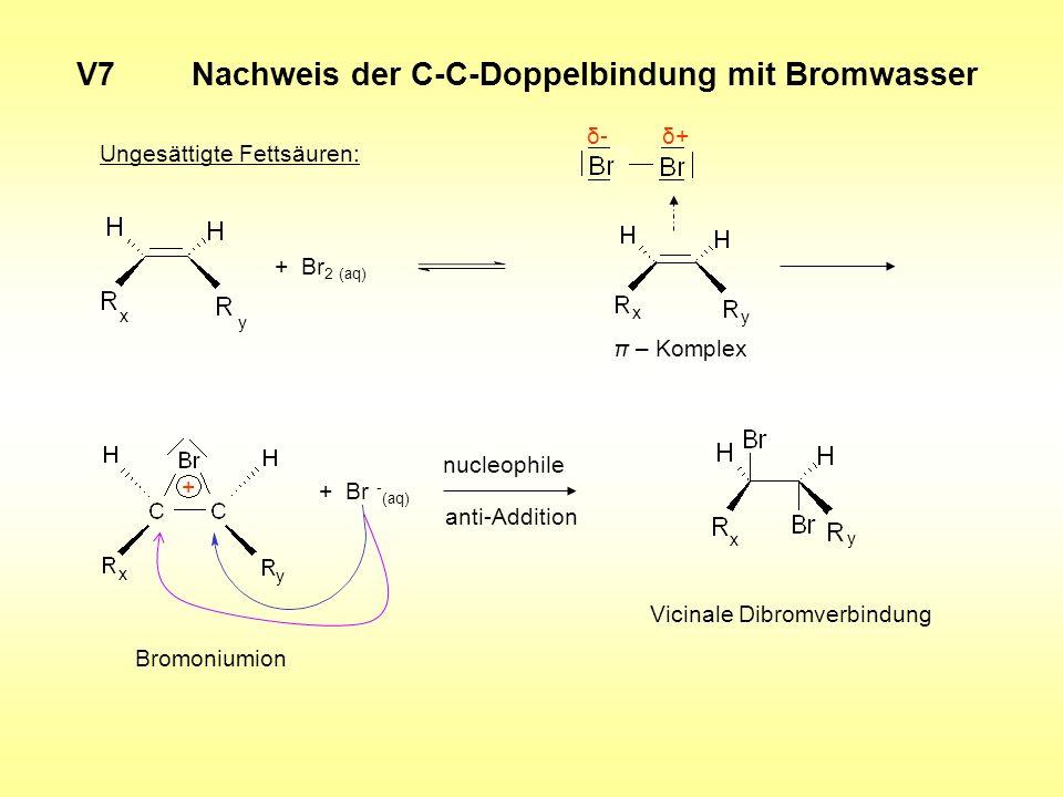 V7 Nachweis der C-C-Doppelbindung mit Bromwasser