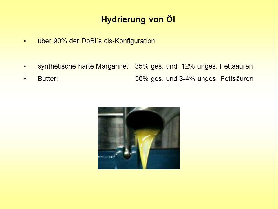 Hydrierung von Öl über 90% der DoBi´s cis-Konfiguration
