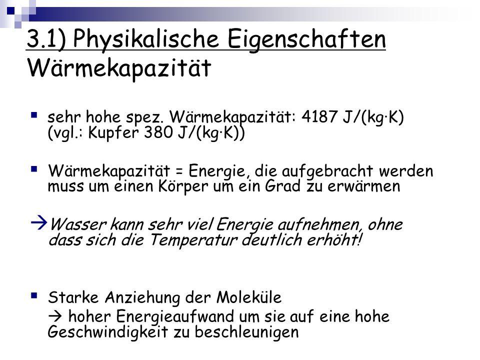 3.1) Physikalische Eigenschaften Wärmekapazität