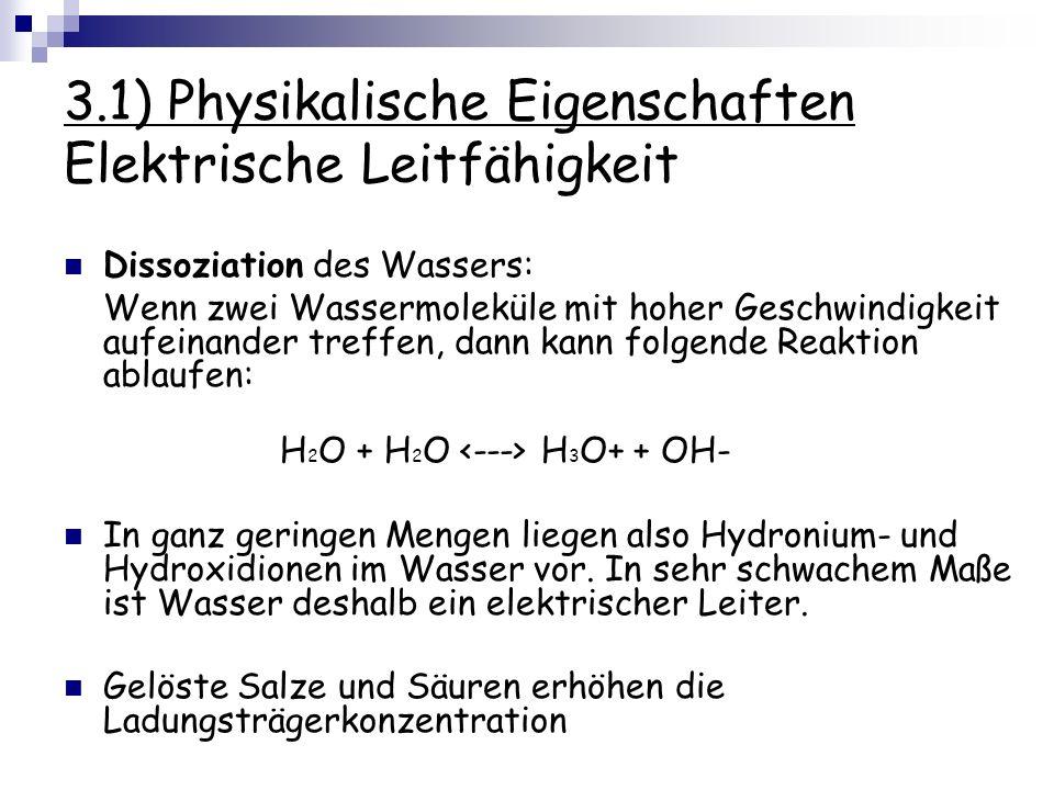 3.1) Physikalische Eigenschaften Elektrische Leitfähigkeit