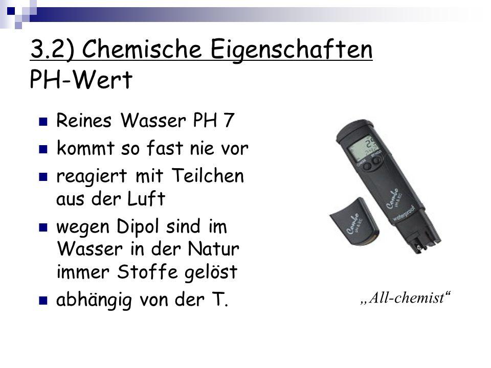 3.2) Chemische Eigenschaften PH-Wert
