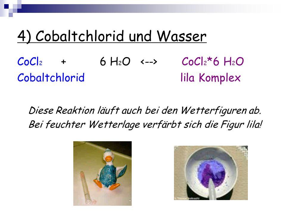 4) Cobaltchlorid und Wasser