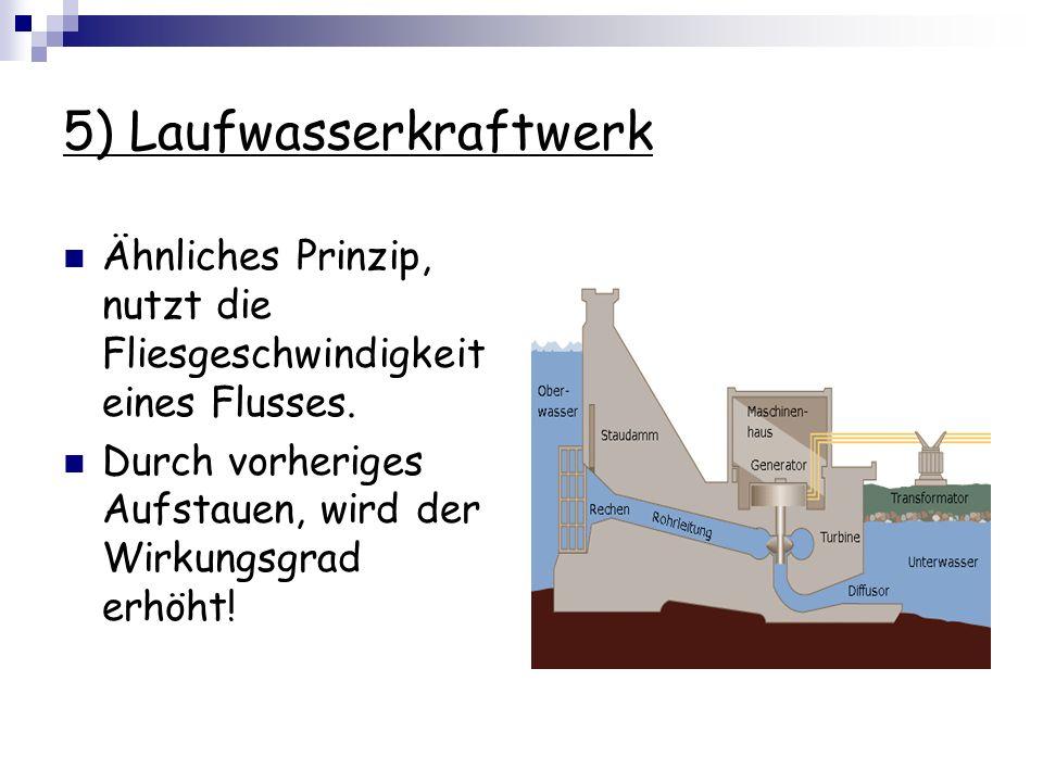5) Laufwasserkraftwerk