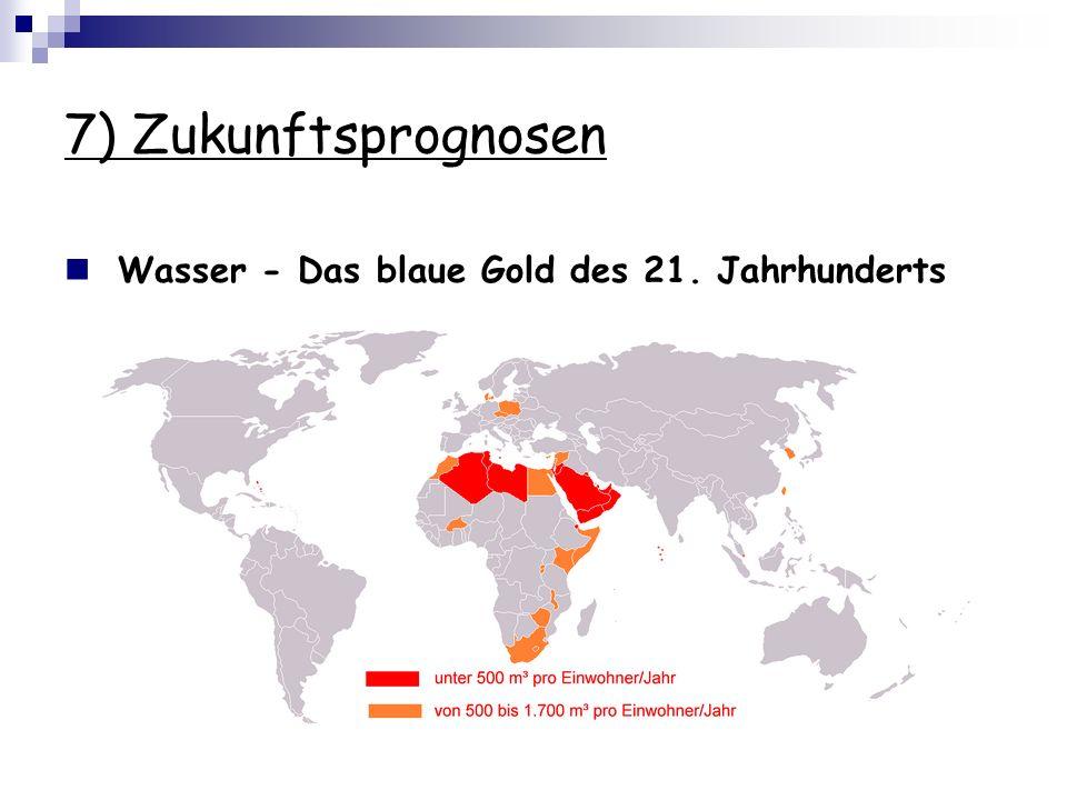 7) Zukunftsprognosen Wasser - Das blaue Gold des 21. Jahrhunderts