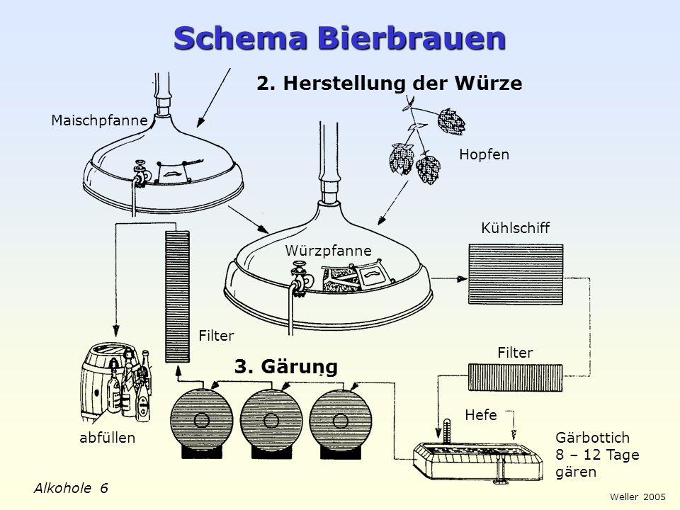 Schema Bierbrauen 2. Herstellung der Würze 3. Gärung Maischpfanne