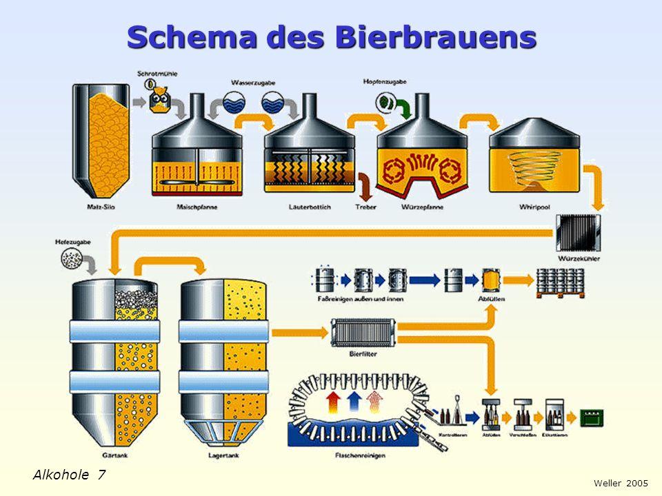 Schema des Bierbrauens