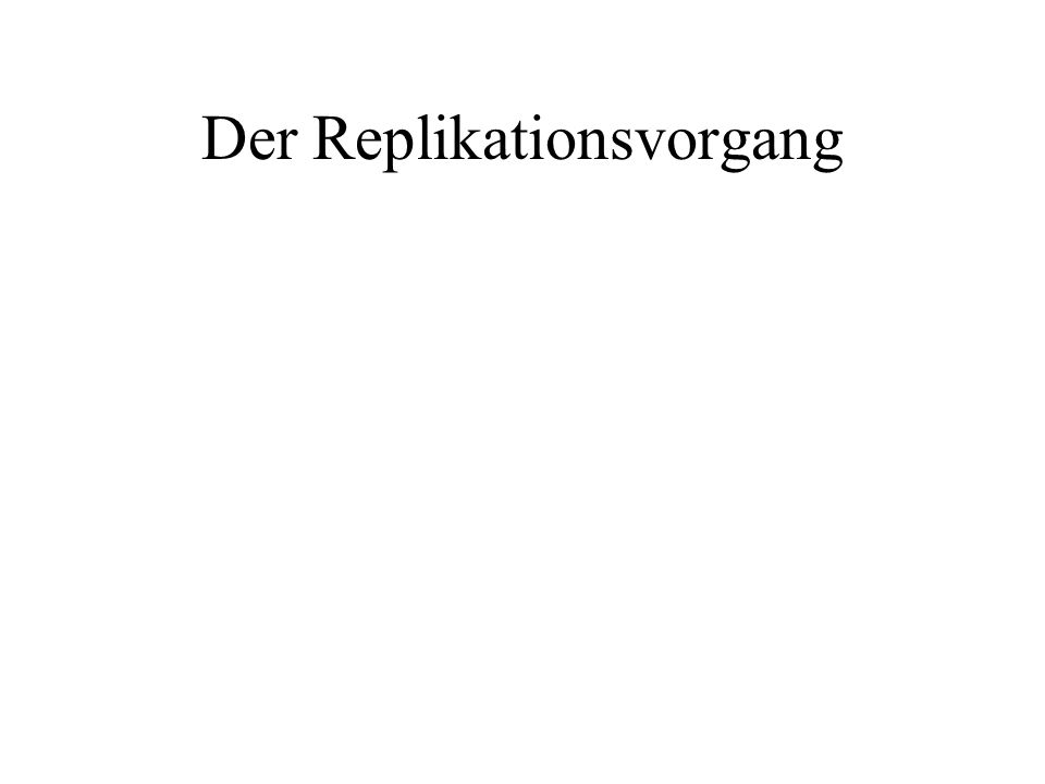 Der Replikationsvorgang