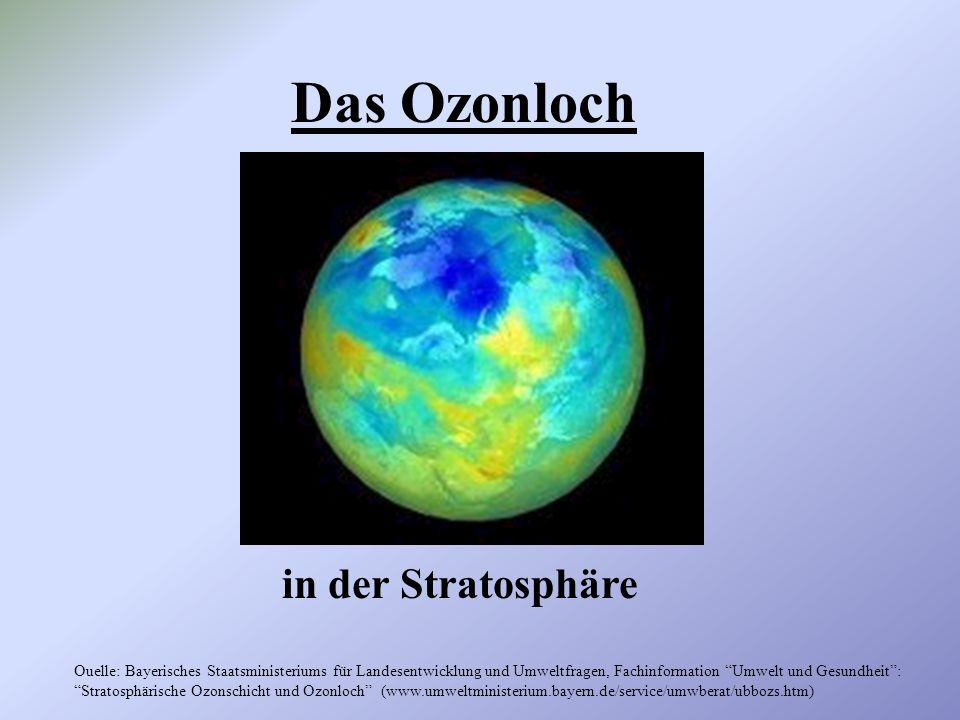 Das Ozonloch in der Stratosphäre