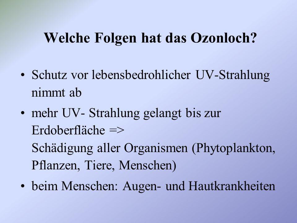 Welche Folgen hat das Ozonloch