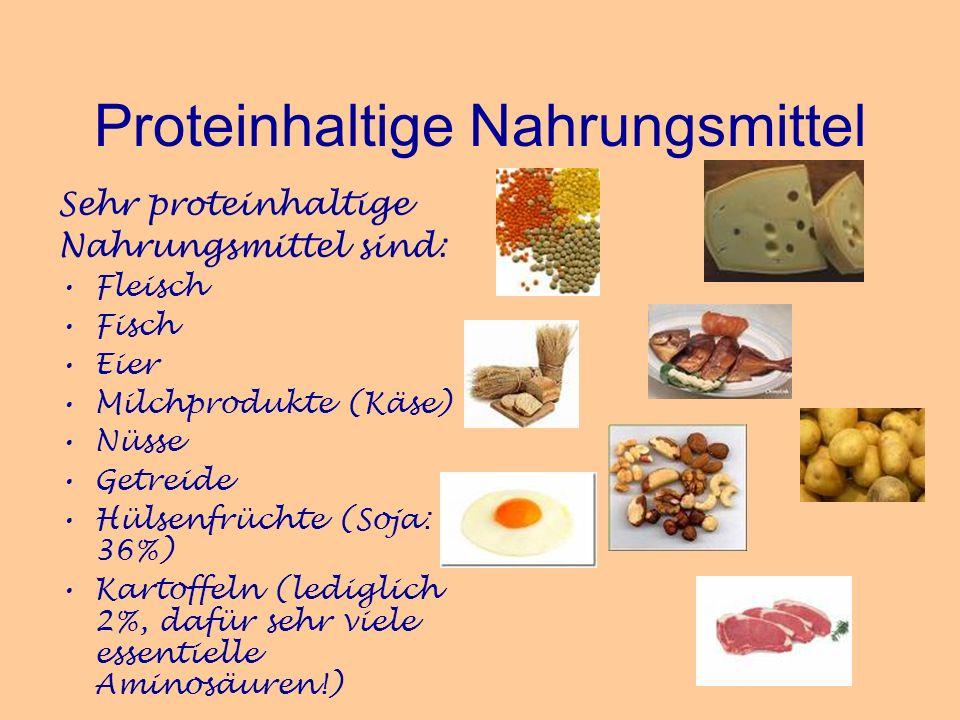 Proteinhaltige Nahrungsmittel