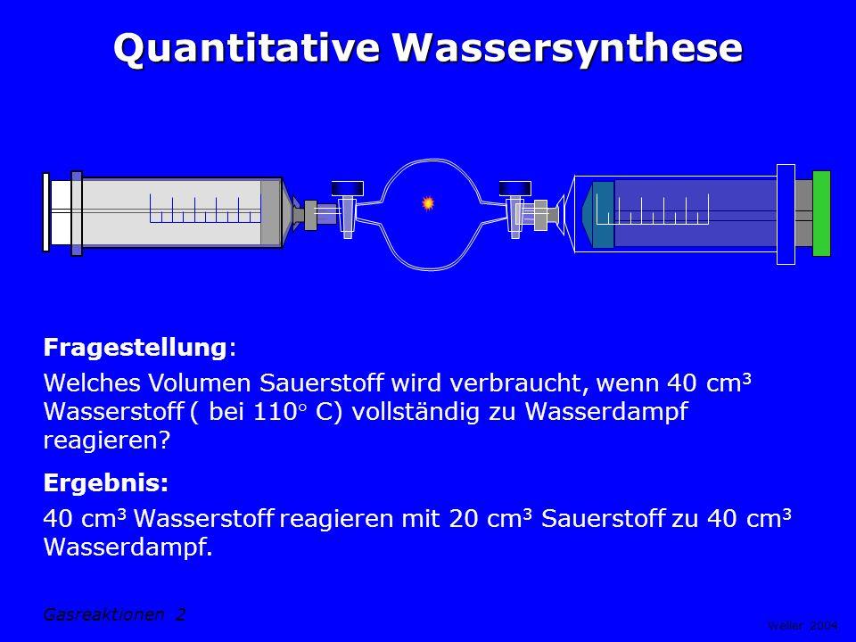 Quantitative Wassersynthese