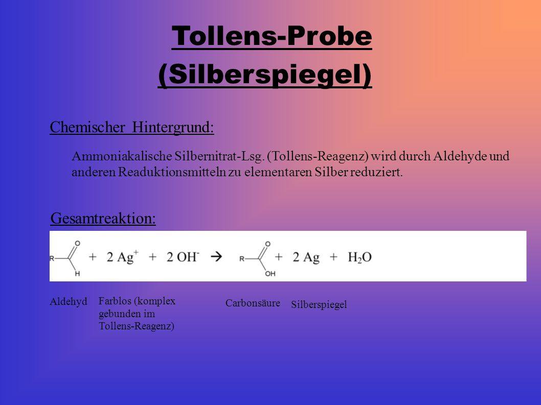 Tollens-Probe (Silberspiegel)
