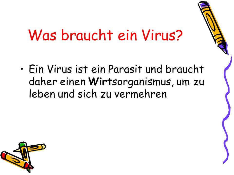 Was braucht ein Virus.
