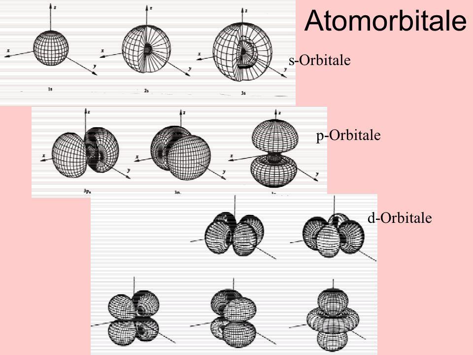 Atomorbitale s-Orbitale p-Orbitale d-Orbitale