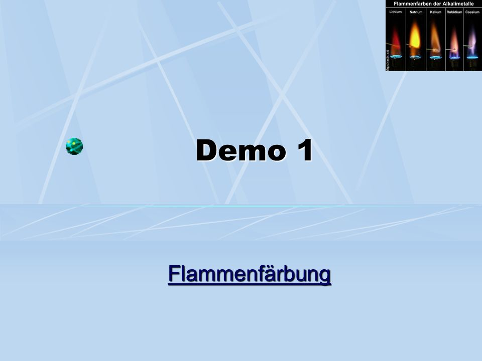 Demo 1 Flammenfärbung