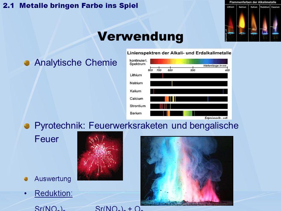 Verwendung Analytische Chemie