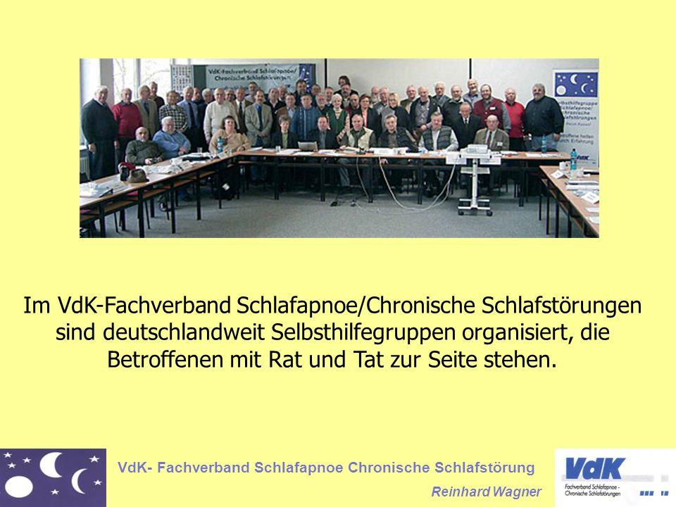 Im VdK-Fachverband Schlafapnoe/Chronische Schlafstörungen sind deutschlandweit Selbsthilfegruppen organisiert, die Betroffenen mit Rat und Tat zur Seite stehen.