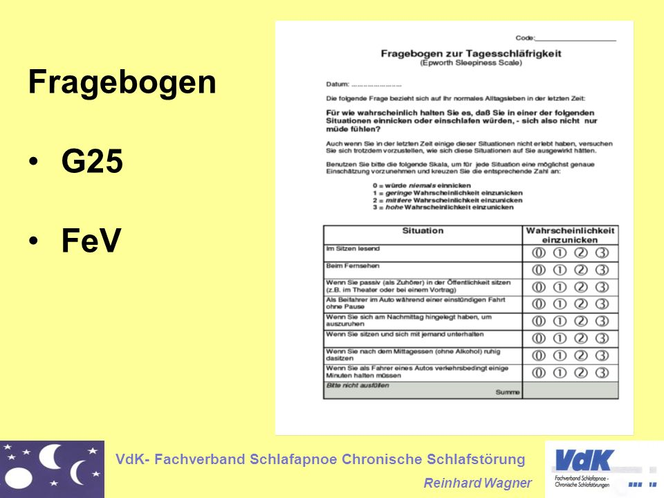 Fragebogen G25 FeV