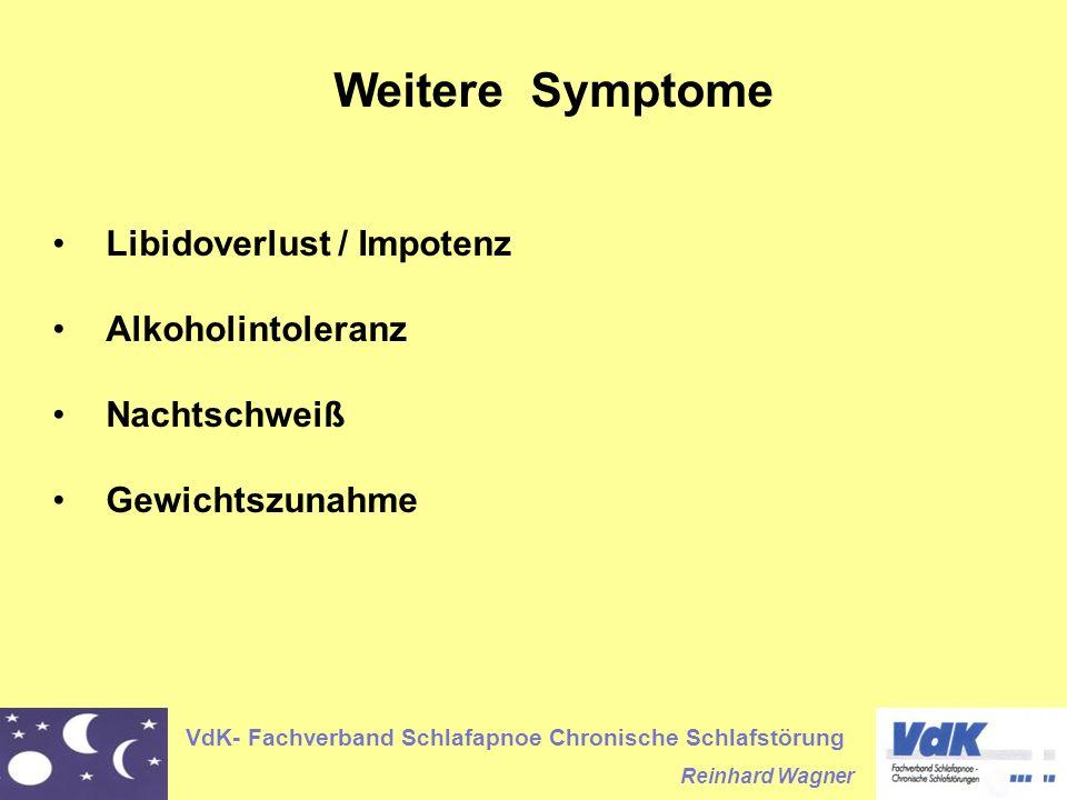 Weitere Symptome Libidoverlust / Impotenz Alkoholintoleranz