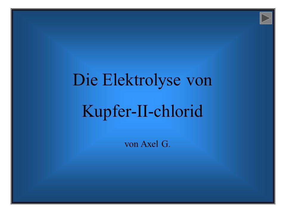 Die Elektrolyse von Kupfer-II-chlorid von Axel G.