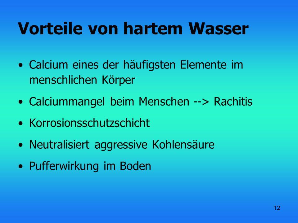 Vorteile von hartem Wasser