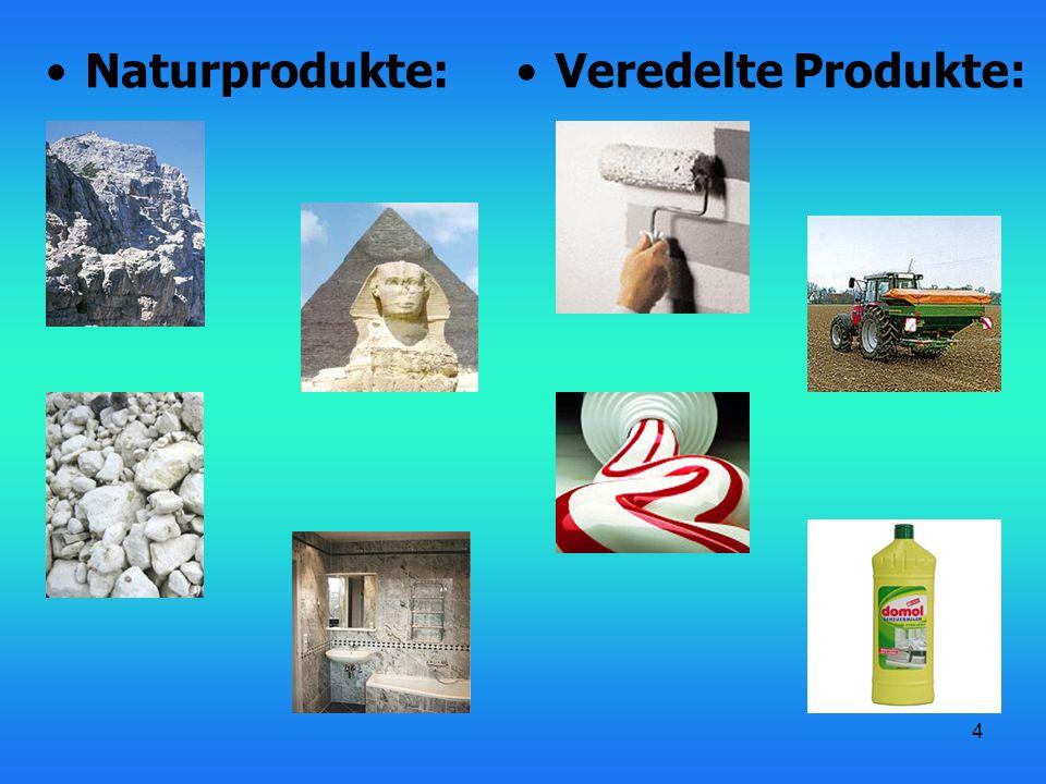 Naturprodukte: Veredelte Produkte: