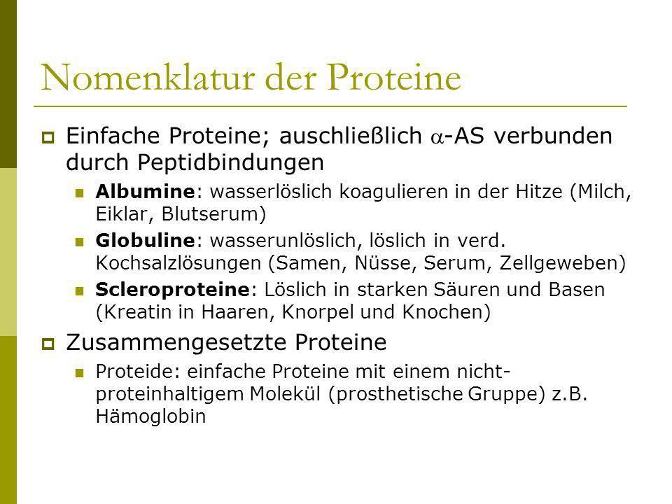 Nomenklatur der Proteine