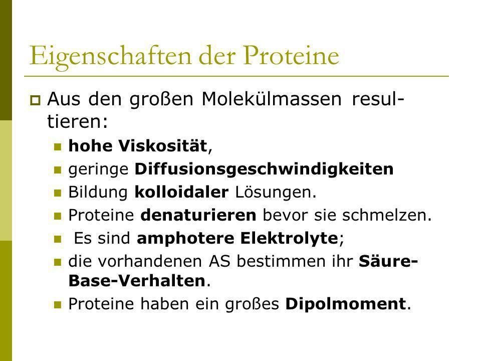 Eigenschaften der Proteine