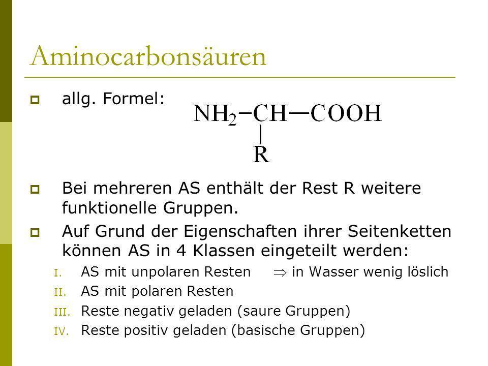 Aminocarbonsäuren allg. Formel: