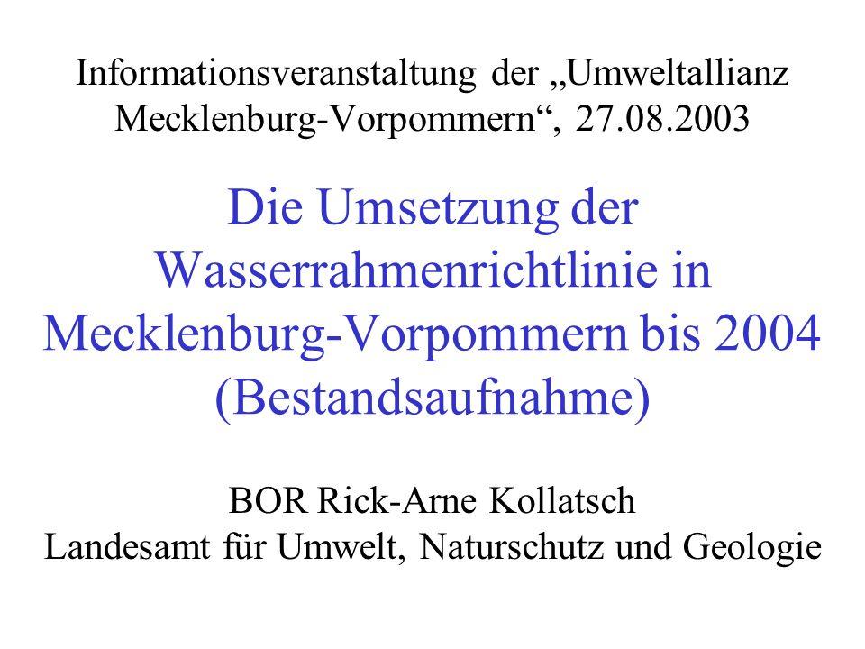 """Informationsveranstaltung der """"Umweltallianz Mecklenburg-Vorpommern , 27.08.2003"""