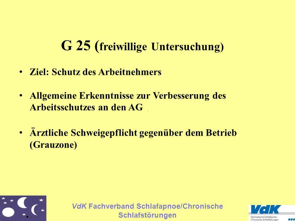 G 25 (freiwillige Untersuchung)