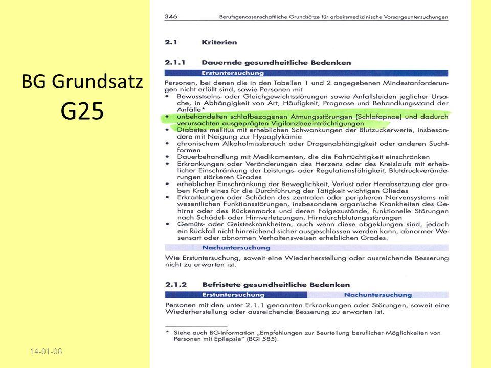 BG Grundsatz G25 17-03-27