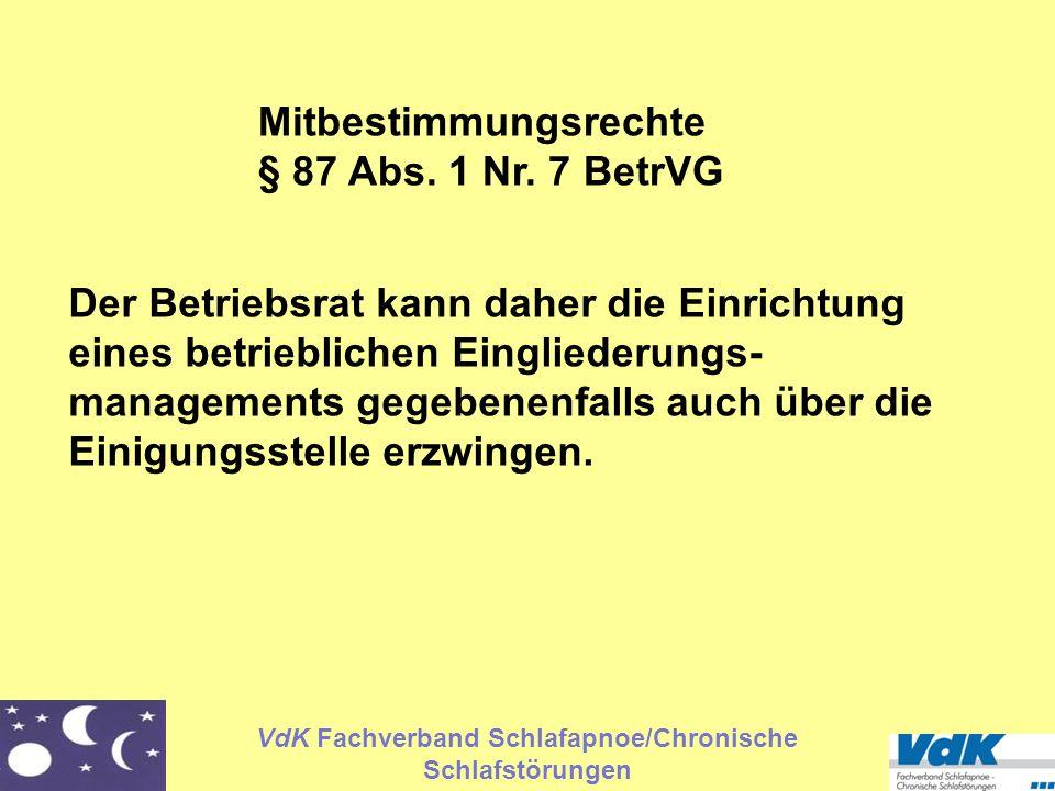 Mitbestimmungsrechte § 87 Abs. 1 Nr. 7 BetrVG