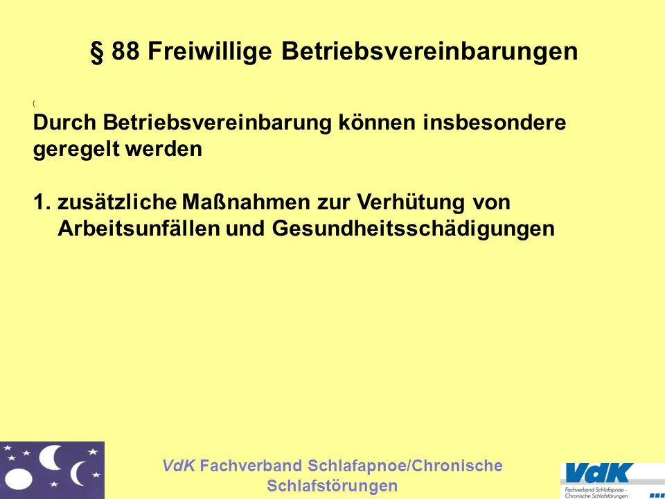 § 88 Freiwillige Betriebsvereinbarungen