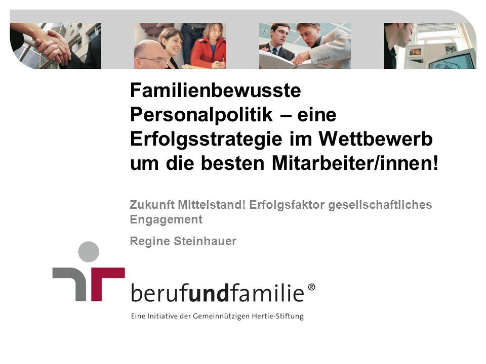 Familienbewusste Personalpolitik – eine Erfolgsstrategie im Wettbewerb um die besten Mitarbeiter/innen!